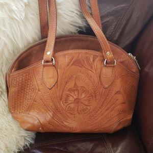 Tooled Leather Ladie's Purse